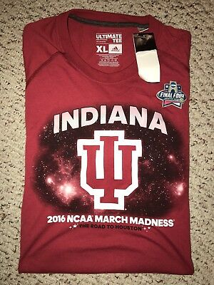 NWT Adidas Indiana Hoosiers Basketball 2016 March Madness Shirt XL