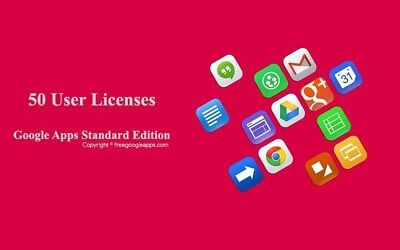 Domain name with 50 users for Google apps Standard Edition