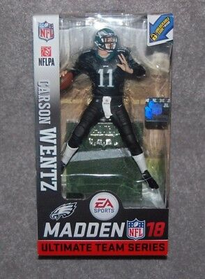 PHILADELPHIA EAGLES CARSON WENTZ  11 NFL MADDEN 18 SERIES 1 ACTION FIGURE