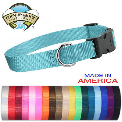 Country Brook Design® Economy Nylon Dog Collars-Various sizes - colors available