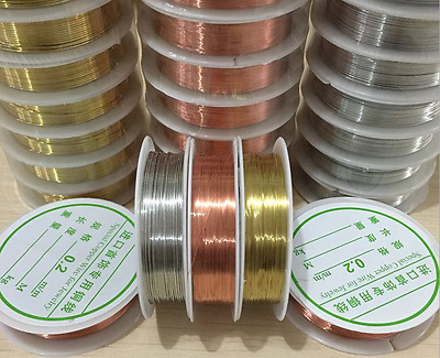 1 Roll Brass Silver Gold Soft Copper Wire line for DIY Jewelry Making 0-2-1mm