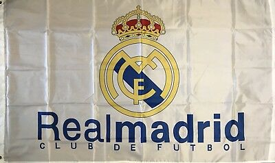 REAL MADRID 3x5 Feet FLAG BANNER HOME COLORS Large Size Ships From USA