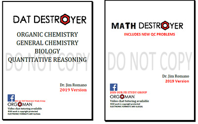 2018 DAT and 2018 Math Destroyer - Direct from the creator Dr- Romano Orgoman