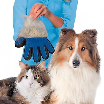Touch Pet Grooming Glove Brush Dog Cat Fur Hair Removal Mitt Massage Deshedding
