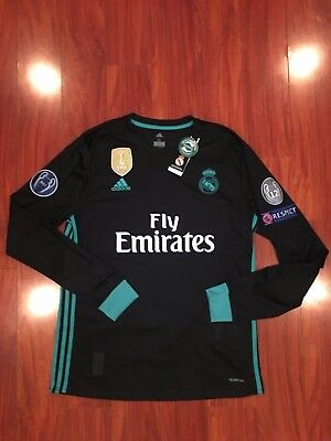 Real Madrid Away Long Sleeve Jersey Champions League Version Climacool Official