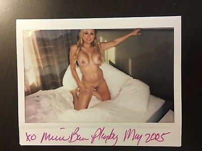 NEW 2017 MICHELLE BAENA PLAYBOY COVER MODEL NUDE POLAROID SIGNED TO YOU FROM ME