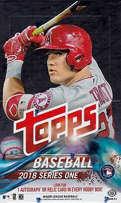2018 Topps Series 1 Baseball sealed hobby box 36 packs 10 MLB cards silver pack