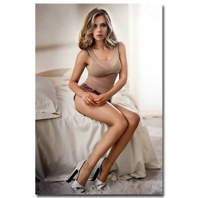 Scarlett Johansson Sexy Lady Movie Star Art Silk Poster Canvas Print Black Widow