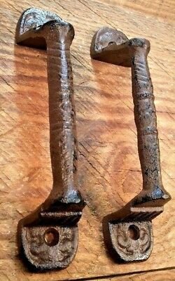 2 Door Barn Cast Iron Gate Pull Shed Handle Rustic Antique Style Handles 5-38