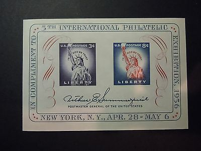 1956 1075 5th International Philatelic Exhibition Souvenir Sheet  MNH OG