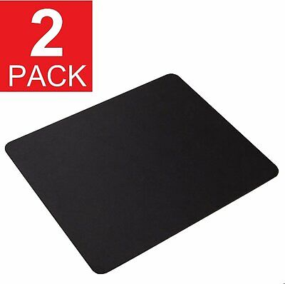 2-Pack Stitched Soft Non Slip Rubber Mat Mouse Pad Laptop Computer PC Optical