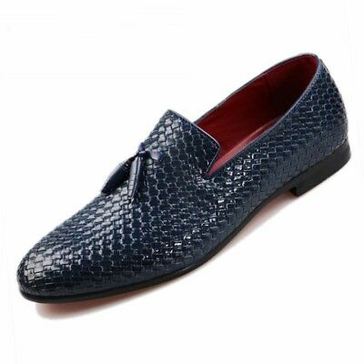 Mens Casual Oxfords Leather Shoes  Driving Loafers Dress Formal Pointy Toe Comfy