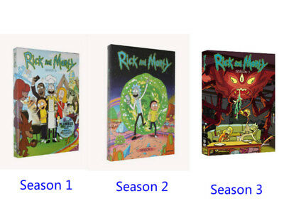 Rick and Morty Complete TV Series Seasons 1 - 2 - 3 Boxed  DVD Sets Bundle