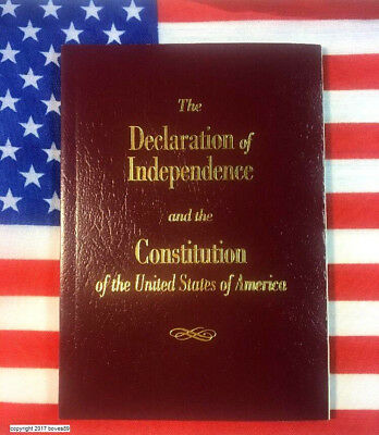 New U-S- Pocket Constitution - Declaration Of Independence Amendments USA