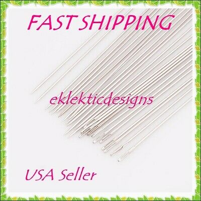 HOT 25pcs Beading Needles Iron 52mm -45mm 10 Jewelry Bracelet Necklace Darning