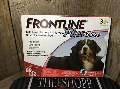 Merial Frontline Plus Flea - Tick Control for XL Dogs 89-132 lbs for 3 Month EPA