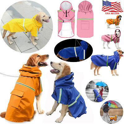 Waterproof Coat RAINCOAT REFLECTIVE ADJUSTABLE JACKET DOG PET SIZES 8 NEW