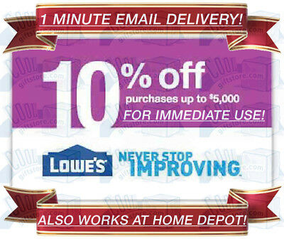 LOWES IN-STORE - ONLINE 10 PERCENT OFF DISCOUNT PROMO CODE NO MINIMUM PURCHASE