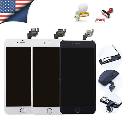 OEM iPhone 6 Plus Screen Digitizer Replacement lcd Touch with Home Button Camera