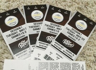 2018 SEC BASEBALL TOURNAMENT - SESSION 1 - MAY 22 GAMES 1 - 2 - SECTION D ROW 5