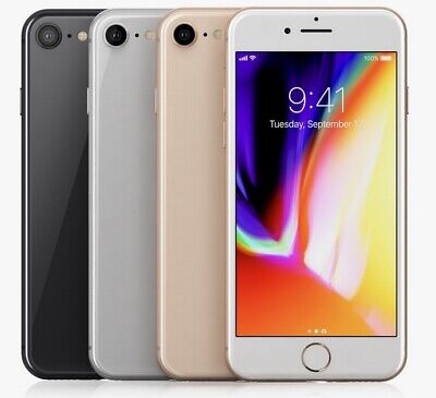Apple iPhone 8 - 64GB 256GB GSM Factory Unlocked Smartphone AT-T T-Mobile
