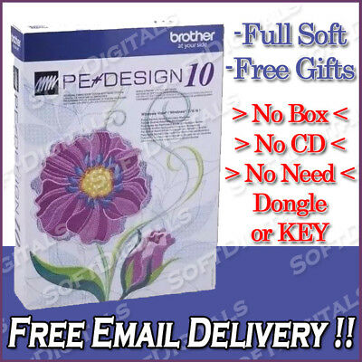 Brother PE Design 10 Embroidery Full Software - Free Gifts - Instant Delivery