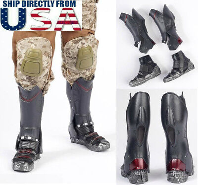 16 Scale Combat Boots For Avengers Falcon For 12 Hot Toys Male Figure USA