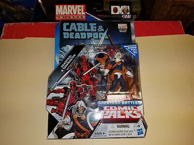 Marvel Universe Deadpool and Tasmaster two pack 3 34 inch