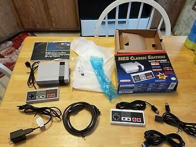Nintendo NES Classic Edition Mini Console Authentic with xtra Controller - cords