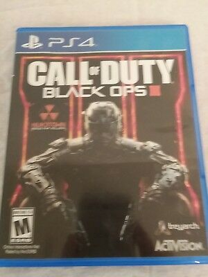 Call of Duty Black Ops III Sony PlayStation 4 2015 Used - PS4 Disc - Case