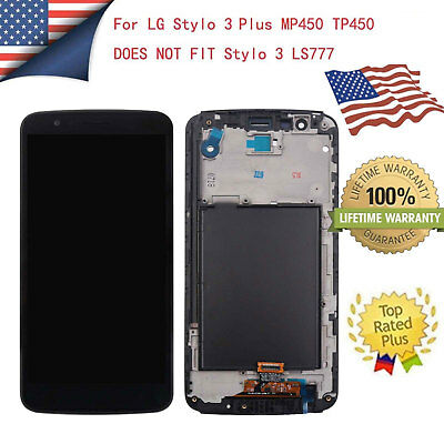 OEM For LG Stylo 3 Plus MP450 TP450 LCD Touch Screen Replacement Digitizer Frame