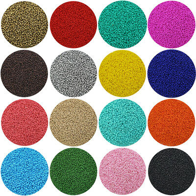 Lot of 2500pcs Economical 110 Rocaille 1-8mm Small Round Glass Seed Beads DIY