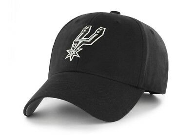 San Antonio Spurs NBA Adult Adjustable Classic Team Logo Black Hats  Hat Cap