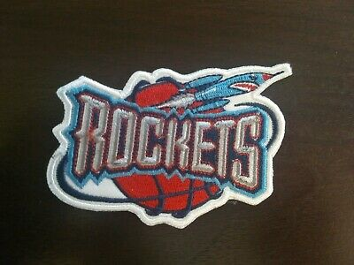Throwback Houston Rockets Basketball NBA Team Logo Patch Sport Iron Sew 3-5