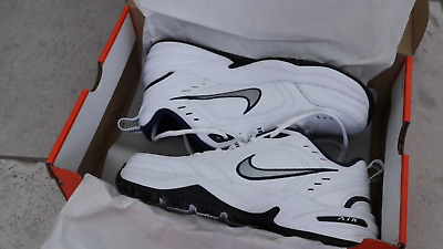 New Mens Air Monarch IV Training Shoes Extra Wide 4E WhiteSilverNavy