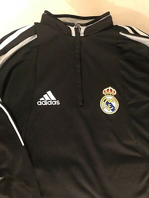 Adidas Real Madrid Soccer MCF Half Zip  Track Jacket Sz M