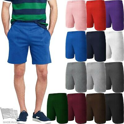 MENS SWEAT SHORTS FLEECE POCKETS CASUAL COMFY HIP HOP Gym Training Campus