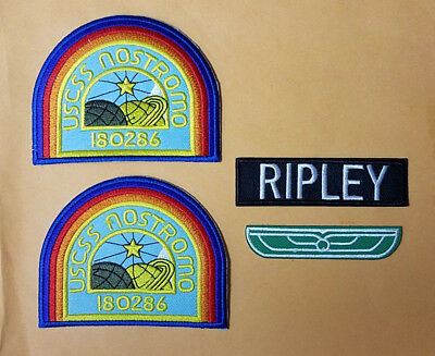 Alien Nostromo Ripley Costume Patches- Your choice-