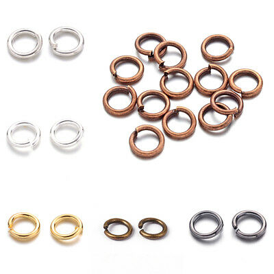 10g Strong Brass Open Jump Rings Unsoldered Loop Findings 6 Colors Pick 410mm
