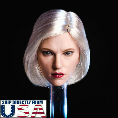 16 Black Widow Scarlett Johansson Head Sculpt Silver Hair For Hot Toys PHICEN