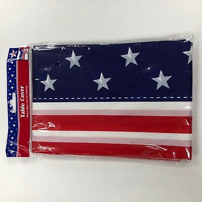 USA America 4th July Flag Memorial Holiday Decor Table Cover Lot of 4