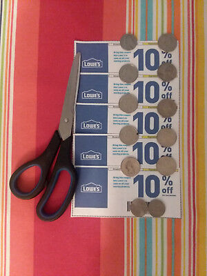 5 Ct-Lowes-10 Off-Coupons sent US Mail  Lowes Expiration 083118