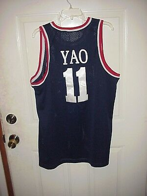 AUTHENTIC NIKE NBA BASKETBALL HOUSTON ROCKETS 11 YAO MING STITCHED JERSEY SZ XL