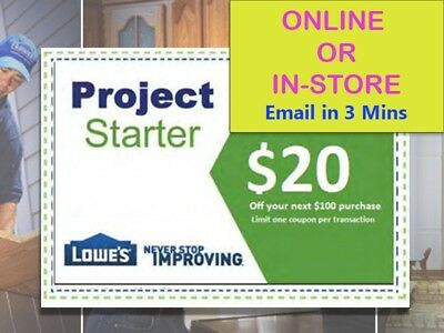 Two2x Lowes 20 Off 100-Discount- expiry 72118  sk