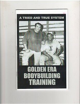 Arnold SchwarzeneggerSergio Oliva The Golden Era Of Bodybuilding Booklet