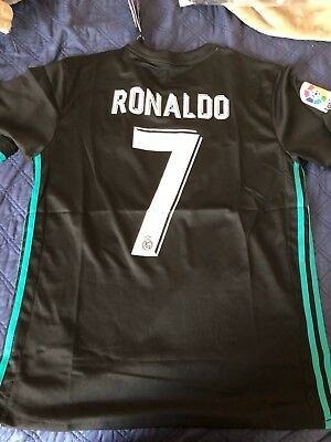 Cristiano Ronaldo Real Madrid FC 201718 Away Kit Adult M S Adidas Soccer Futbol