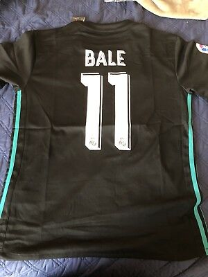 Gareth Bale Real Madrid FC 20172018 Away Kit Adult M S Adidas Soccer Futbol