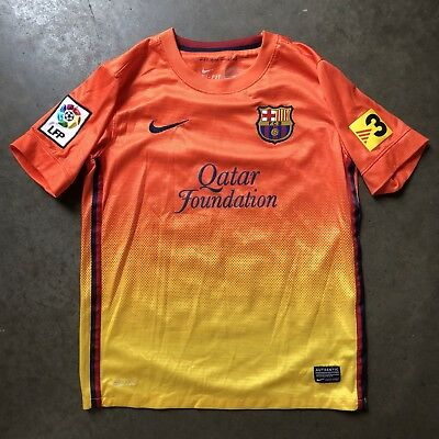 Nike Dri-Fit FC Barcelona FCB Lionel Messi Alternate Sunset Jersey Sz Youth M