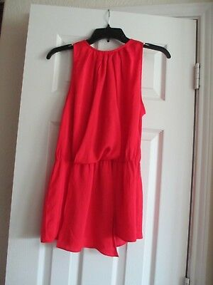 ZARA BASIC Ladies Junior Size Small Silky Coral Sheer Blouse Top Free Shipping