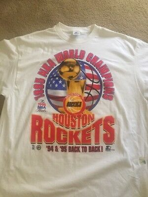 Houston Rockets NBA World Champions Starter Tshirt Size Mens  XL- New Never Worn